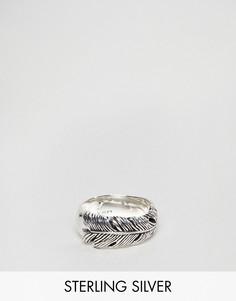 Серебряное кольцо в виде пера Seven London - Серебряный