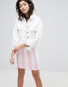 Белая джинсовая укороченная куртка ASOS - Белый