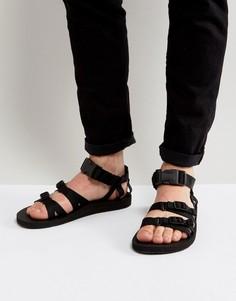 Парусиновые сандалии с ремешками Teva Alp - Черный