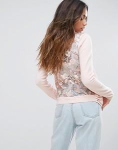 Кардиган с вышивкой на спине New Look - Розовый