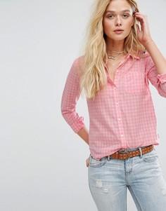 Рубашка в клеточку Hollister - Розовый