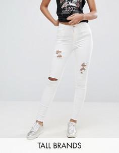 Рваные джинсы скинни New Look Tall - Белый