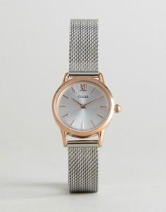 Часы из разных металлов с сетчатым ремешком CLUSE Vedette - Серебряный