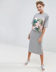 Платье-футболка миди ASOS - Серый