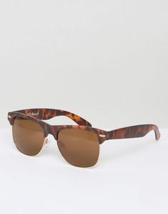 Винтажные солнцезащитные очки в черепаховой оправе AJ Morgan Wade - Коричневый
