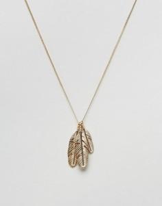 Золотистое ожерелье с подвесками Chained & Able - Золотой