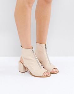 Кожаные туфли с молниями ASOS RASPBERRY - Бежевый