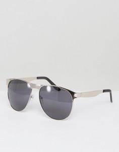Серебристые солнцезащитные очки-авиаторы AJ Morgan - Серебряный