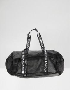Сетчатая спортивная сумка с логотипом Missguided Londunn - Черный