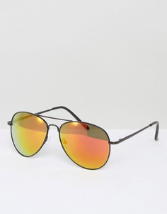 Солнцезащитные очки-авиаторы с черными линзами AJ Morgan Skyline - Черный