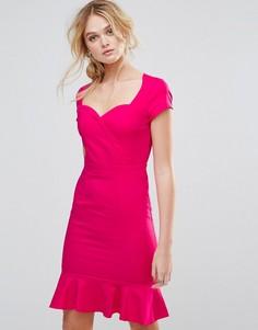 Платье с отделкой оборками Paper Dolls - Розовый
