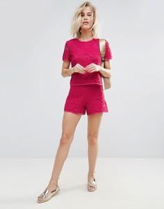 Ажурные шорты Madame Rage - Розовый