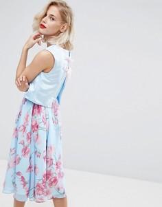 Платье миди 2 в 1 с цветочным принтом Horrockses - Мульти