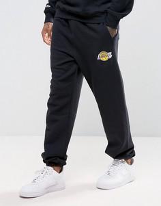 Джоггеры с манжетами Mitchell & Ness LA Lakers NBA - Черный