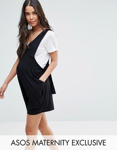 Комбинезон с декоративными ремешками ASOS Maternity - Черный