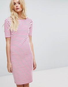 Платье в полоску с вырезом лодочкой Tommy Hilfiger Denim - Мульти