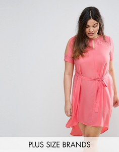 Свободное платье с вырезами на плечах Lovedrobe - Розовый