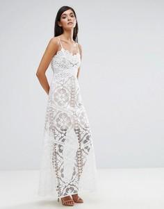 Кружевное платье макси Aijek - Белый