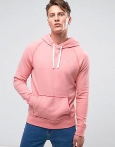 Худи классического кроя из розового меланжа с логотипом Hollister - Розовый