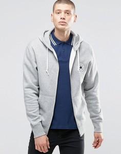 Худи серого цвета на молнии Converse 10002131-A01 - Серый