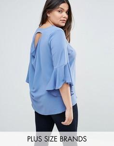 Блузка со свободным воротом Lovedrobe - Синий