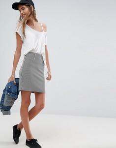 Полосатая мини-юбка с завышенной талией ASOS - Мульти