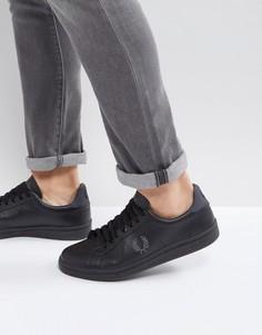 Кожаные кроссовки Fred Perry B721 - Черный