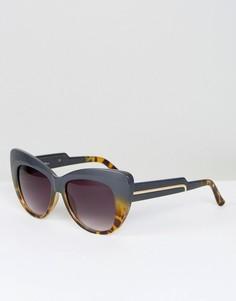 Черепаховые солнцезащитные очки кошачий глаз Jeepers Peepers - Черный