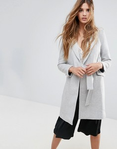 Пальто с запахом Neon Rose - Серый