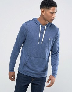 Худи синего цвета с логотипом в виде лося Abercrombie & Fitch - Синий