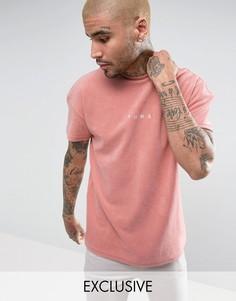 Розовая махровая футболка Puma эксклюзивно для ASOS 57533306 - Розовый