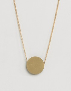 Ожерелье с подвеской Wolf and Moon Eclipse - Золотой