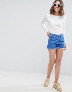 Джинсовые шорты с завышенной талией Brave Soul Fraya - Синий