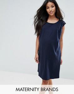 Платье с кружевной вставкой Mama.licious - Темно-синий