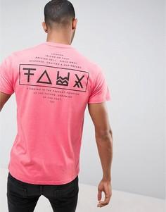 Футболка с принтом на спине Friend or Faux Limitless - Розовый