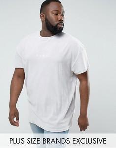 Серая махровая футболка Puma PLUS эксклюзивно для ASOS 57533305 - Серый