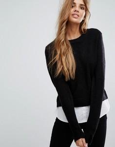 Джемпер-рубашка 2 в 1 Urban Bliss - Черный