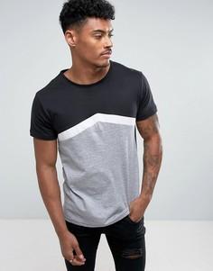 Контрастная футболка D-Struct - Серый