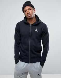 Черный худи на молнии Nike Jordan Flight Lite 822658-010 - Черный