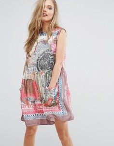 Свободное платье с принтом Replay - Мульти