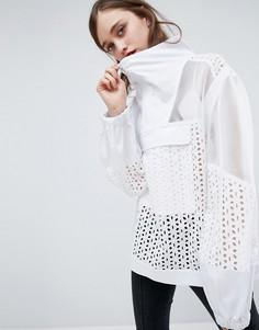 Куртка из сетки и кружева ASOS - Белый