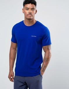 Футболка с круглым вырезом и короткими рукавами Calvin Klein - Синий