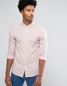 Розовая оксфордская узкая рубашка в полоску Farah Halwyn - Розовый