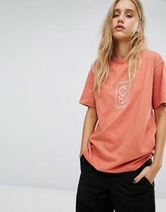 Oversize-футболка с вышивкой Maharishi - Желтый