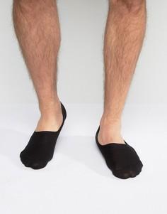 Черные спортивные носки из вафельной ткани ASOS - Черный