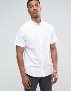 Поплиновая рубашка с коротким рукавом Troy - Белый