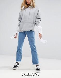Расклешенные джинсы с металлической отделкой Mad But Magic - Синий