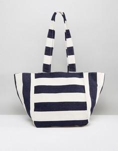 Пляжная оversize-сумка в полоску Missguided - Синий