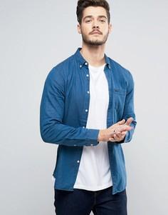 Рубашка классического кроя из шамбре Jack Wills Faulkner - Темно-синий
