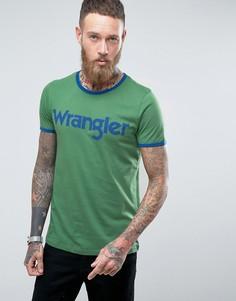 Футболка с логотипом Wrangler - Зеленый